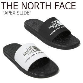 ノースフェイス スリッパ THE NORTH FACE メンズ レディース APEX SLIDE EX エイペックス スライド EX BLACK WHITE ブラック ホワイト NS98K09J/K/A/B NS98J09B シューズ 【中古】未使用品