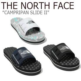 ノースフェイス スリッパ THE NORTH FACE メンズ レディース CAMPRIPAN SLIDE II キャンプリパン スライド2 BLACK WHITE NAVY ブラック ホワイト ネイビー NS98K15A/B/C/J/K/L シューズ 【中古】未使用品