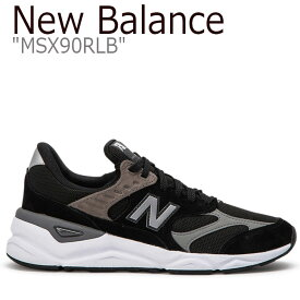 ニューバランス スニーカー NEW BALANCE メンズ レディース new balance X-90 ニューバランスX-90 BLACK ブラック MSX90RLB シューズ 【中古】未使用品