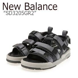 ニューバランス サンダル New Balance メンズ レディース SD 3205 GR2 GRAY グレー SD3205GR2 シューズ 【中古】未使用品