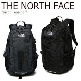 ノースフェイス バックパック THE NORTH FACE メンズ レディース HOT SHOT ホットショット デイパック DARK GRAY BLACK ダークグレー ブラック NM2DK05A/B NM2DK56A バッグ 【中古】未使用品