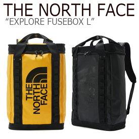 ノースフェイス バックパック THE NORTH FACE メンズ レディース EXPLORE FUSEBOX L エクスプロー ヒューズボックス L BLACK YELLOW ブラック イエロー NM2DK63A/B バッグ 【中古】未使用品