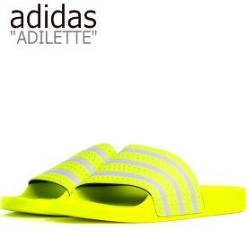 アディダス サンダル adidas メンズ レディース ADILETTE SANDAL アディレッタ サンダル YELLOW イエロー EE6182 シューズ 【中古】未使用品