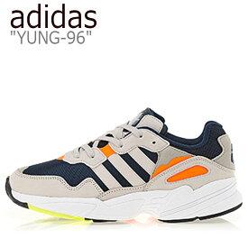 アディダス スニーカー adidas メンズ レディース YUNG-96 ヤング 96 BEIGE ベージュ NAVY ネイビー ORANGE オレンジ F35017 シューズ 【中古】未使用品