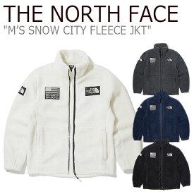 ノースフェイス フリース THE NORTH FACE メンズ M'S SNOW CITY FLEECE JKT スノー シティ フリースジャケット IVORY NAVY CHARCOAL BLACK アイボリー ネイビー チャコール ブラック NN4FK50A/B/C/D NN4FL01A/B ウェア 【中古】未使用品