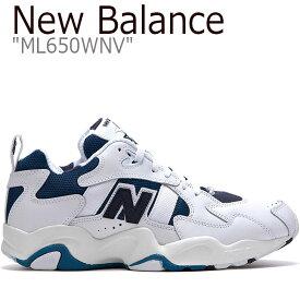 ニューバランス 650 スニーカー NEW BALANCE メンズ レディース new balance 650 ニューバランス650 WHITE ホワイト BLUE ブルー ML650WNV FLNB9S2U60 シューズ 【中古】未使用品