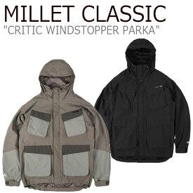ミレー ジャケット MILLET CLASSIC メンズ MILLET X CRITIC WINDSTOPPER PARKA ミレーXクリティック ウィンドストッパー パーカ KHAKI カーキ BLACK ブラック ZCOSJ901 ウェア
