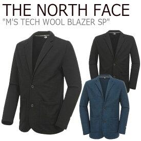 ノースフェイス アウター THE NORTH FACE メンズ M'S TECH WOOL BLAZER SP テック ウール ブレザー SMOKE BLUE ブルー BLACK ブラック NI5JK50A/D ウェア 【中古】未使用品