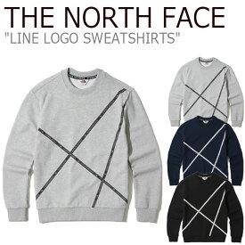 ノースフェイス トレーナー THE NORTH FACE メンズ レディース LINE LOGO SWEATSHIRTS ライン ロゴ スウェットシャツ 全3色 NM5MK03J/K/L ウェア 【中古】未使用品