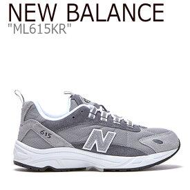 ニューバランス 615 スニーカー New Balance メンズ レディース ML 615 KR New Balance615 GREY グレー ML615KR FLNB9F4U06 シューズ 【中古】未使用品