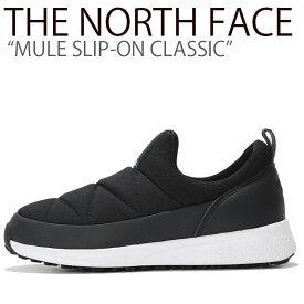 ノースフェイス スニーカー THE NORTH FACE メンズ レディース MULE SLIP-ON CLASSIC ミュール スリッポン クラシック BLACK ブラック NS93K50A/J シューズ 【中古】未使用品