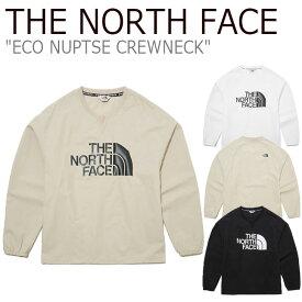 ノースフェイス トレーナー THE NORTH FACE メンズ レディース ECO NUPTSE CREWNECK エコ ヌプシ クルーネック BLACK ブラック WHITE ホワイト BEIGE ベージュ NM5ML03J/K/L ウェア 【中古】未使用品
