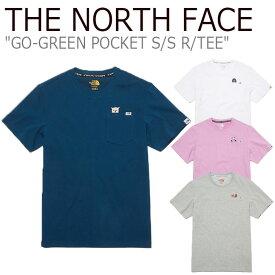 ノースフェイス Tシャツ THE NORTH FACE メンズ レディース GO-GREEN POCKET S/S R/TEE ゴー グリーン ポケット ショートスリーブ ラウンドTEE 全4色 NT7UL18J/K/L/M ウェア 【中古】未使用品