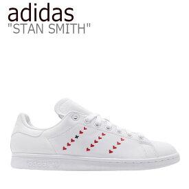アディダス スタンスミス スニーカー adidas メンズ レディース STAN SMITH スタンスミス WHITE RED ホワイト レッド EG5811 シューズ 【中古】未使用品