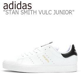 アディダス スタンスミス スニーカー adidas レディース STAN SMITH JUNIOR スタンスミス ジュニア WHITE ホワイト BLACK ブラック EG7294 シューズ 【中古】未使用品