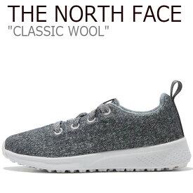 ノースフェイス スニーカー THE NORTH FACE メンズ レディース CLASSIC WOOL クラシック ウール GRAY グレー NS93K63K シューズ 【中古】未使用品