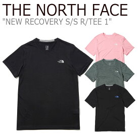 ノースフェイス Tシャツ THE NORTH FACE メンズ レディース NEW RECOVERY S/S R/TEE 1 ニューリカバリー ショートスリーブ ラウンドTシャツ 半袖 REAL BLACK CANDY PINK BLACK DRIED HERB NT7UK08A/B/C/D ウェア 【中古】未使用品