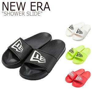 ニューエラ サンダル NEW ERA メンズ レディース SHOWER SLIDE シャワー スライド スリッパ WHITE ホワイト GREEN グリーン RED レッド BLACK ブラック 12394506/7/8/9 シューズ