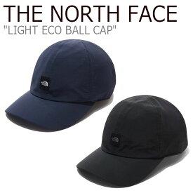ノースフェイス キャップ THE NORTH FACE メンズ レディース LIGHT ECO BALL CAP ライト エコ ボールキャップ BLACK ブラック NAVY ネイビー NE3CL52J/K ACC 【中古】未使用品