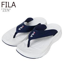 フィラ サンダル FILA メンズ レディース ZEN ゼン WHITE ホワイト BLUE ブルー 1SM00741-147 シューズ