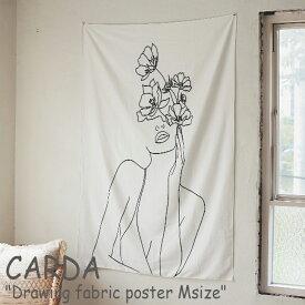 カルダ タペストリー CARDA ドローイング ファブリックポスター Drawing fabric poster Mサイズ スケッチ 韓国インテリア おしゃれ 2697889-03 ACC