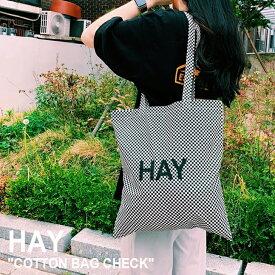 ヘイ トートバッグ HAY メンズ レディース COTTON BAG CHECK コットンバッグ チェック Check チェック色 700175 バッグ