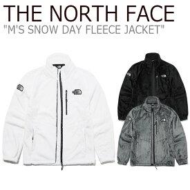 フリース ノースフェイス THE NORTH FACE メンズ M'S SNOW DAY FLEECE JACKET スノー デイ フリース ジャケット WHITE ホワイト GRAY グレー BLACK ブラック NN4FL53A/B/C ウェア 【中古】未使用品