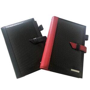 【沖縄・離島配送不可】GT-MOBILE リアルカーボン システム手帳 B6サイズ バイブルサイズ 手帳カバー ダイアリー 高級感 エアージェイ GTR-POG