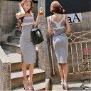 ロングドレス あす楽 送料無料 送料込み キャバ ワンピース レディース ロング ドレス ロング タイト セクシー 送料無料 S/M/L 3サイズ展開 ノースリーブバイカラータイトロングワンピース「MAX90%OFFオータムバーゲン」