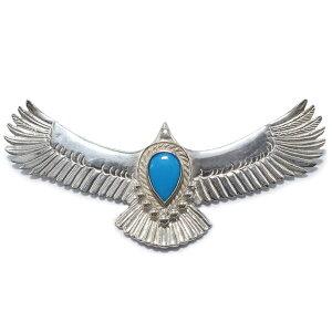 タディアンドキング TADY&KING goro's ゴローズ魂継承 OLD大イーグルSV ターコイズ tkh-0647 ペンダントトップ メンズ レディース フェザー ネックレス メンズ eagle イーグルネックレス メンズ シルバ