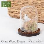 ウェディングディスプレイガラスウッドドーム1