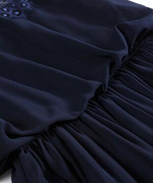 結婚式ドレスパーティードレス大きいサイズドレスフォーマルドレスお呼ばれ服ロングドレス袖あり半袖レースシフォンフォーマル可愛い薄手ウエスト切り替えロング丈ロングスカート白パープルピンクネイビー20代30代40代50代