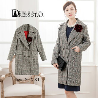 Graduation ceremony graduation ceremony suit mother mom entrance to school entering a kindergarten Chester coat Lady's big size outer jacket party wedding ceremony Chester glen check long invite long sleeves きれいめ refined second party banquet in the fall