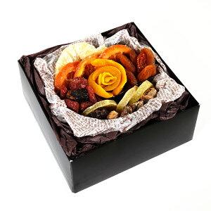 【ドライフルーツギフト・フラワーガーデン(ライトブラウン)】ドライフルーツ ギフト プレゼント お祝い デーツ マンゴー キウイ アプリコット オレンジ いちご いちじく パイナップル