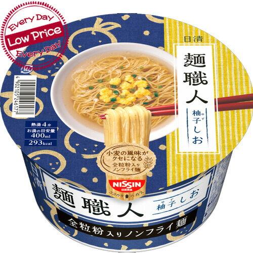 日清麺職人「柚子しお」x12コケース販売【カップ麺】