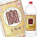 (あす楽対応可) (単品) 宝酒造 宝焼酎 25% 4L エコペット (大容量焼酎) (甲類焼酎)