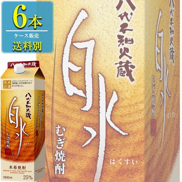 キリン 八代不知火蔵 白水 麦 25% 本格焼酎 1800mlパック x6本ケース販売 (熊本)