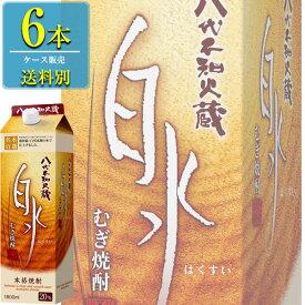 キリン 八代不知火蔵 白水 麦 20% 本格焼酎 1.8Lパック x 6本ケース販売 (熊本)