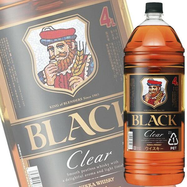 アサヒ ニッカ「ブラックニッカ クリア」4Lペット【国産ウイスキー】【ブレンデッド】