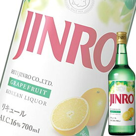 (単品) ジンロジャパン JINRO グレープフルーツ 700ml瓶 (フレーバー焼酎) (韓国焼酎) (Ready to Serve)