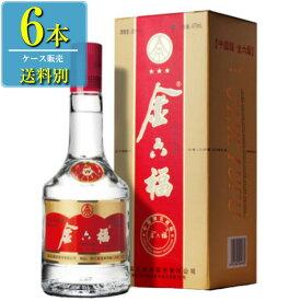 日和商事 金六福 (キンロップク) 475ml瓶 x 6本ケース販売 (白酒) (中国酒)