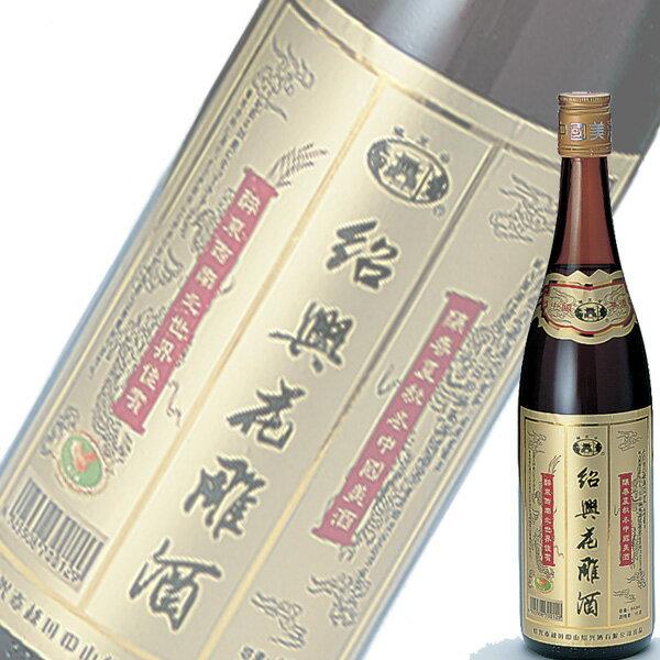 【単品】日和商事越王台「紹興花彫酒」金ラベル 600ml瓶【紹興酒】【中国酒】