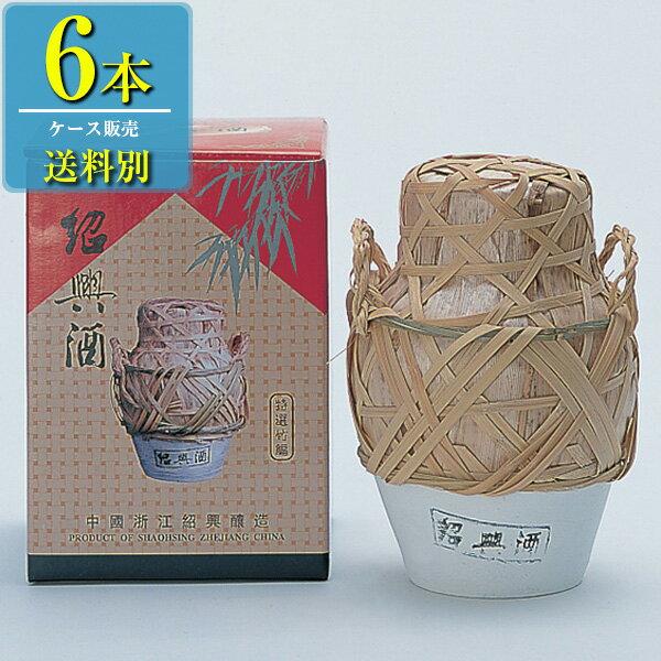 日和商事 特選竹編 紹興酒 1L x6本ケース販売 (紹興酒) (中国酒)