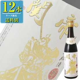 日和商事 関帝陳年 15年 紹興酒 白ラベル 600ml瓶 x 12本ケース販売 (紹興酒) (中国酒)