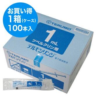 TERMO Terumo注射器1mL SS-01T 1箱(100本入)