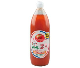 送料無料 JA平取町 ニシパの恋人 トマトジュース (無塩) 1L瓶×6本入 ※北海道・沖縄・離島は別途送料が必要。
