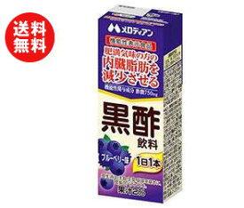 【送料無料】【2ケースセット】メロディアン 黒酢飲料 ブルーベリー【機能性表示食品】 200ml紙パック×24(12×2)本入×(2ケース) ※北海道・沖縄・離島は別途送料が必要。