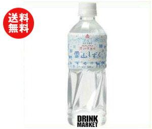 送料無料 ゴールドパック 北アルプスの清らか天然水 雪山しずく 500mlペットボトル×24本入 ※北海道・沖縄・離島は別途送料が必要。