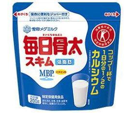 送料無料 【2ケースセット】雪印メグミルク 毎日骨太スキム【特定保健用食品 特保】 200g×12袋入×(2ケース) 北海道・沖縄・離島は別途送料が必要。