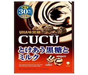 送料無料 UHA味覚糖 CUCU(キュキュ) とけあう黒糖とミルク 80g×6袋入 北海道・沖縄・離島は別途送料が必要。